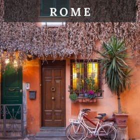 Rome, Italy - travel tips. Trastevere is a charming neighborhood to stay on your Italy vacation.