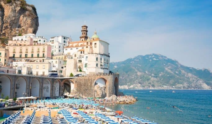 summer months in italy