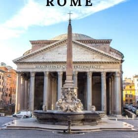 Pantheon Rome - one of the best things to do in Rome is visit the Pantheon