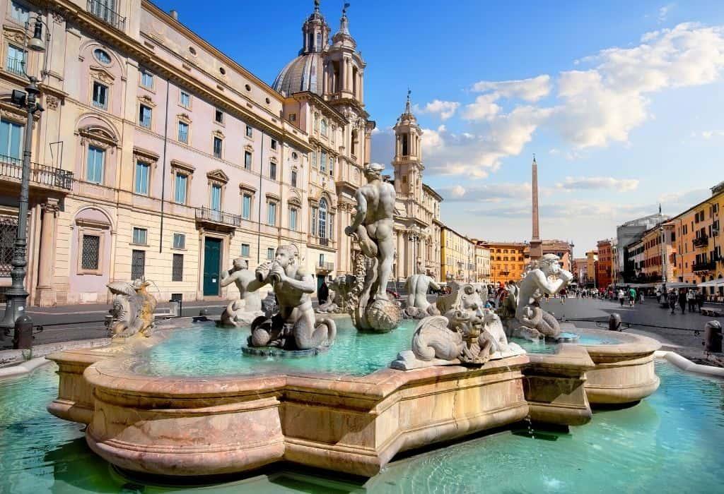 Fontana del Moro - fountain in Piazza Navona Rome