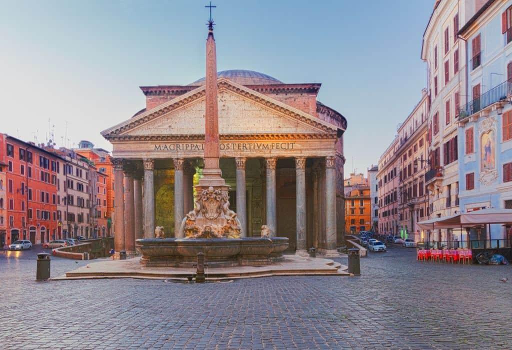 Fontana del Pantheon - fountain near the pantheon rome