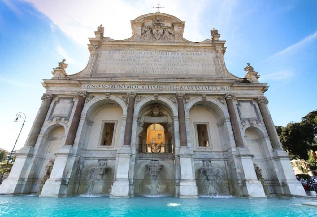 Fontana dell Acqua Paola Rome