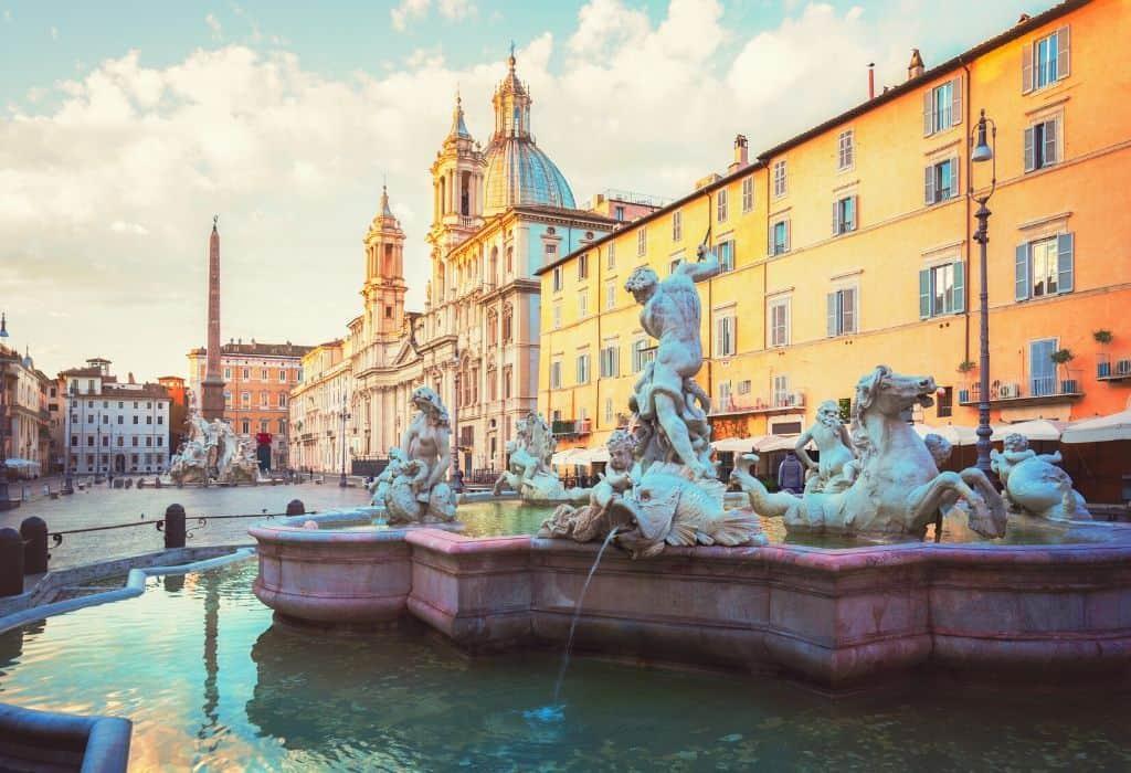 Fountain of Neptune - Piazza navona fountain