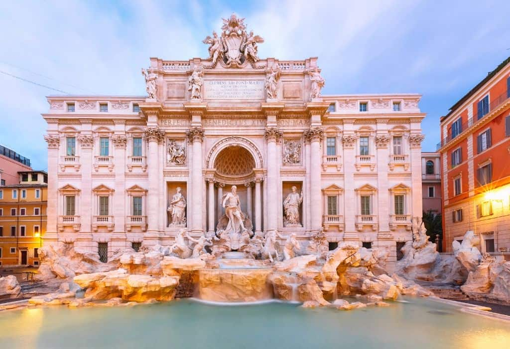 trevi fountain - most famous fountains in Rome
